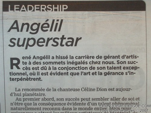 Angélil Superstar