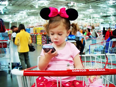 we started our day in the land of make believe (sesame ellis) Tags: girl kid toddler child blackberry mykid costco ppg year3 ppm minniemouseears pointandshootcamera racheldevine wwwracheldevinecom