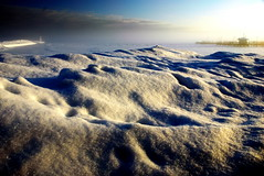 new snow, fog and sunrise (snapstill studio) Tags: winter snow ice fog sunrise pier dock michigan lakemichigan sparkle beacon freshsnow breakwater petoskey littletraversebay martinmcreynolds upnorthmichigan
