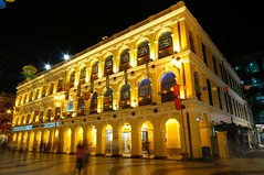 Macau - Largo do Senado @ night (cnmark) Tags: china light building classic architecture night buildings geotagged golden noche colorful long exposure do nacht colonial arcade style arches senado noite colourful  arcades macau largo nuit gebude notte nachtaufnahme macao  allrightsreserved abigfave top20travel theunforgettablepictures theperfectphotographer goldstaraward spiritofphotography rubyphotographer damniwishidtakenthat geo:lat=22193947 geo:lon=113539994 nikonflickrawardgold nikonflickraward50mostinteresting mygearandme mygearandmepremium mygearandmebronze mygearandmesilver mygearandmegold mygearandmeplatinum mygearandmediamond dblringexcellence tplringexcellence