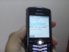 En Twitter desde mi BlackBerry Pearl
