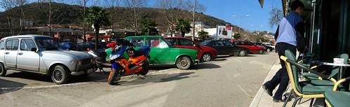 Street scene in central Ulcinj, Montenegro
