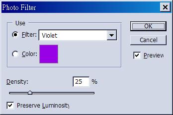 PS紫色濾鏡