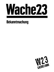 w23 bekanntmachung