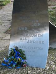 Hommage an Karl Foerster: Inschrift