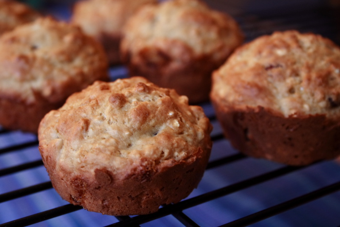 Oatmeal Cranberry Almond Muffins