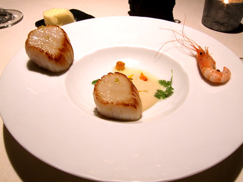 l'Astrance (Paris) - Seared Scallops / Seasame / Bitter Flower / Yuzu Confit / Bergamot