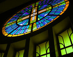 stained glass (jobarracuda) Tags: windows church colors lumix bravo cross philippines stainedglass baguiocity churchwindow fz50 panasoniclumixfz50 jobarracuda superhearts flickcolorcontest fotocompetition fotocompetitionbronze