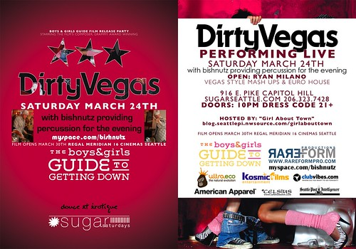DIRTY VEGAS FLYER with bishnutz_