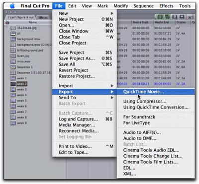 how to select a range in final cut