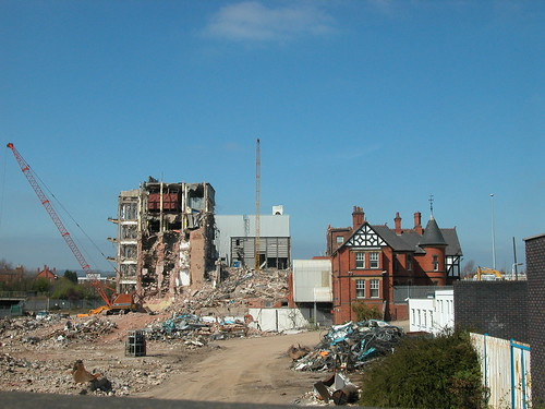 Wrexham Lager being demolished