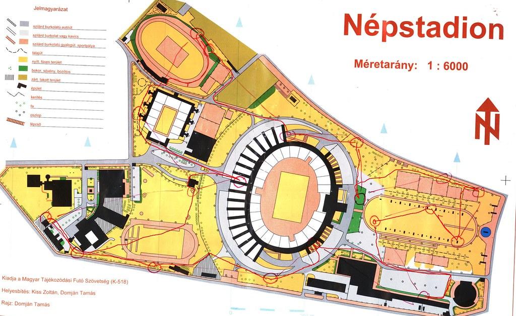 Népstadion - térkép