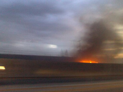 Fire on the 91