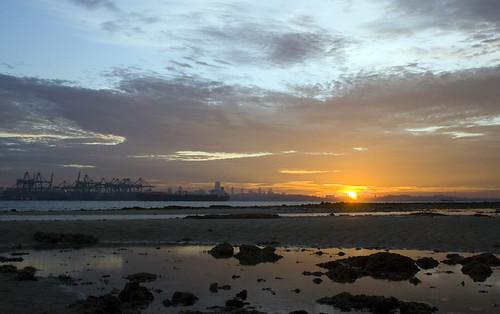 dawn over port
