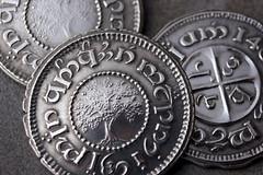 Silver Shillings (Tony Western) Tags: macro silver coin lordoftherings shire hobbit shilling impressedbeauty tharantiin shirepost tommaringer