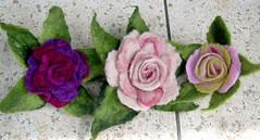 Felt Roses (irit dulman) Tags: roses flower wool felting handmade felt feltro filz