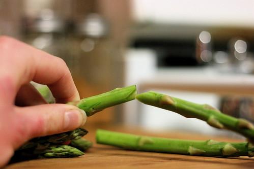 Trimming Asparagus