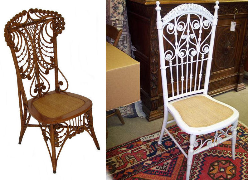 Heywood Wakefield Victorian Wicker Chair   And I Walked?