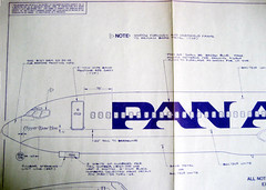How to Paint a Pan Am 727 (Telstar Logistics) Tags: aircraft blueprint boeing panam 727 livery