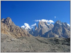 Paiju, Nameless & the Trango Group from the Baltoro Glacier (Ahmad A Karim) Tags: world las pakistan cliffs karakoram tallest lums baltoro trangotowers greattrango trangonameless trangomonk