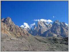 Paiju, Nameless & the Trango Group from the Baltoro Glacier (Ahmad A Karim) Tags: world las pakistan cliffs karakoram tallest lums baltoro trangotowers greattrango trangonameless trangomonk