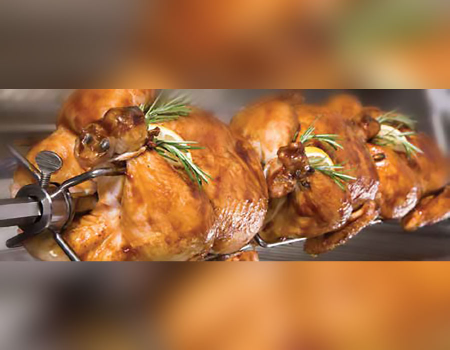 "An integrated rotisserie with infrared (IR) back burner is standard on 38"" grills. 32"" grills are available with or without an integrated rotisserie. 26"" grills are non-rotisserie only."