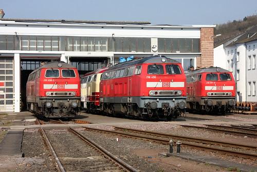 DB Regio 218 Aufstellung, AW Trier