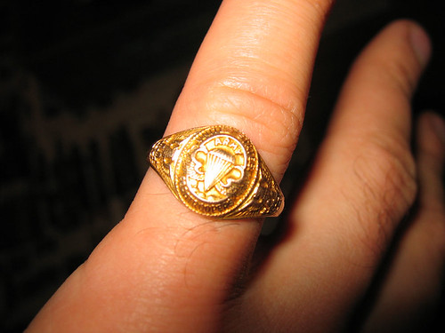 Paratrooper Gold Ring