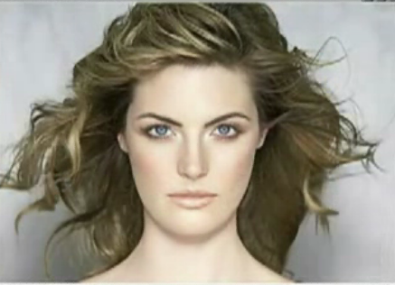 Model after makeup and photoshop