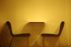 Chair and Table (mrhayata) Tags: light shadow silhouette japan night geotagged tokyo blog mcdonalds  bunkyo edogawabashi  mrhayata geo:lat=357099581 geo:lon=1397309628