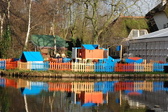 Playground Beatrixpark, Schiedam, the Netherlands (Miek37) Tags: blue orange holland netherlands dutch architecture geotagged nikon schiedam nikor d80 nikond80 18135mmf3556g geo:lat=5192919 geo:lon=4384993 fortdrakensteijn