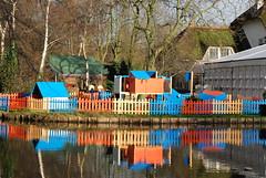 Playground Beatrixpark, Schiedam, the Netherlands (Miek37) Tags: blue orange holland netherlands dutch architecture geotagged nikon schiedam nikor d80 nikond80 18135mmf3556g geo:lat=5192919 geo:lon=4384993 fortdrakensteijn