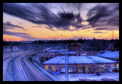 Christmas day sunset (wili_hybrid) Tags: helsinki pasila train yard finland hdr sunset christmas hdri xmas merrychristmas snow season holiday holidays christmaspicture christmasphoto christmasimage 2006 geotagged year2006 geotag december winter outdoor outside exterior nature landscape urban city outdoors photomatix tonemapping tonemapped tone mapping highdynamicrangeimaging high dynamic range imaging interesting popular explore flickrexplore flickr photo wikipedia yahoo noel picture pic photos nordic scandinavia scandinavian seasonal architecture color colorful clouds house trees photography sky