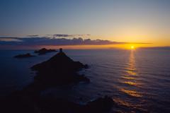 Coucher de soleil sur les Iles Sanguinaires (boleroplus) Tags: france horizontal soleil eau corse bleu reflet nuage paysage ajaccio coucherdesoleil diapositive imagepoint
