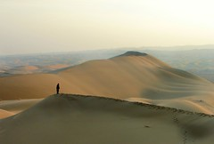 Everyone has Gone and There is Still a Long Way to Go... (Somayeh T) Tags: gold desert iran hill  kashan footprint kavir   gilden   raml somayeh  tebiani