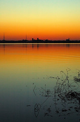 Twilight Continues..... (BamaWester) Tags: sunset orange reflection water twilight bravo horizon alabama decatur bamawester napg twilightcontinues