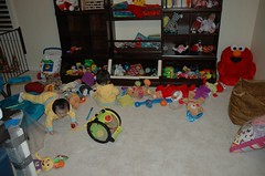 We left them alone for 4 minutes and THIS is what they did to the playroom