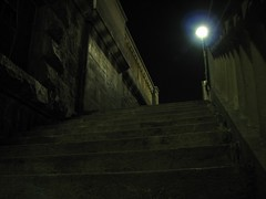 The dark side of stairs (Stranju) Tags: scale stairs torino foto po turin notte nigth notturne nigthshots murazzi canonpowershots3is stranju withcanonican
