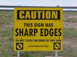Sign with Shape Edges
