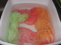 Post dye wash