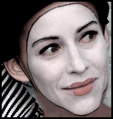 Happy Mime Makeup Halloween makeup mime