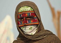 IRAN, minab (Elena Senao) Tags: portrait color eye smile ojo asia mask iran market retrato islam traditional monalisa hijab elena modesty irania