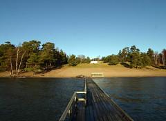 January at the beach (Steffe) Tags: sea beach water pier sweden empty baltic haninge rstahavsbad