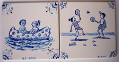 delftsblauwe tegeltjes (Gertie Jaquet) Tags: blue ceramics blauw delft tiles ceramique keramiek tegels spelendekinderen