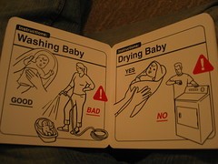 Baby book (17/365) (Stephen Fulljames) Tags: baby warning book project365