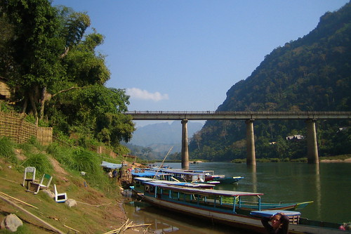 bridge on the river Nam Ou