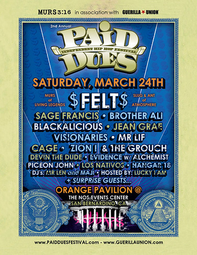 Paid Dues '07 Front of flyer