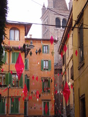 walking trough the streets of Verona (° cris ° (searching for testimonials :)) Tags: street houses roof italy orange walk tetti case belltower via campanile verona vicolo epifania arancione passeggiata artedellafoto eventidafotografare