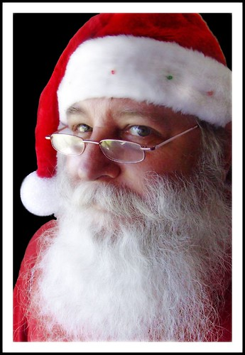 Santa Claus portrait with Black Background