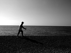 Walk on the Moon () Tags: ocean sky man beach rock japan lyrics pacific wakayama photoshoppery tonda walkonthemoon tondanohama